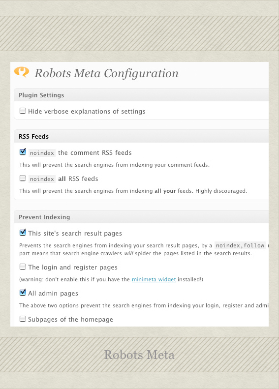 Robots Meta 51 Essential Wordpress Plugins (and bonus functions!)
